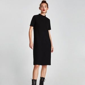 Zara Trafaluc Mock Neck Short Sleeve Sweater Dress